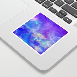 Watercolor abstract art Sticker