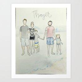 (Do not purchase example art!) customized family portrait Art Print