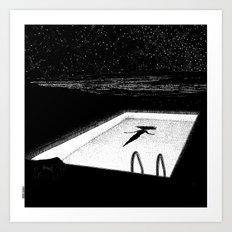 asc 593 - Le silence des cigales (The midnight lights) Art Print