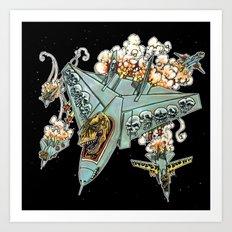 Tyrannosquadron Rex... IN SPAAACE! Art Print
