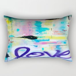 Writing on the Wall Rectangular Pillow