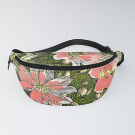 Painted flowers blushing Fanny Pack