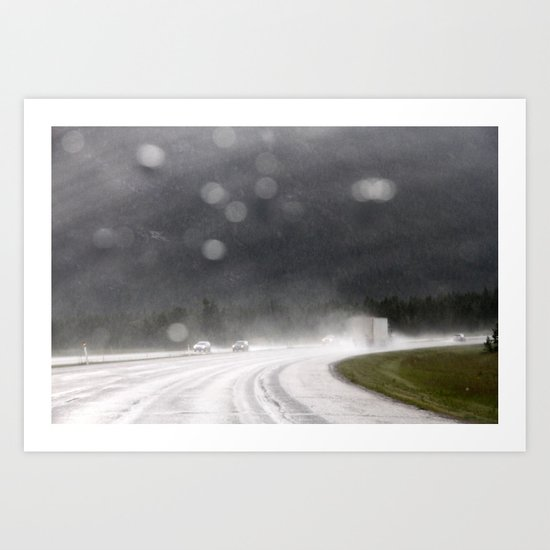 rainy trip Art Print