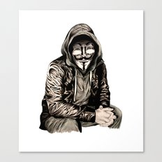 Anonymous Gangster Canvas Print