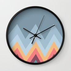 Retro Mountains Wall Clock