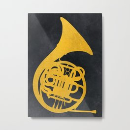 French horn music instrument #frenchhorn #music Metal Print