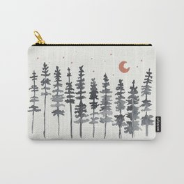 Nighttime Watercolor Forest Carry-All Pouch