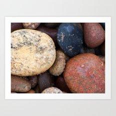 Lake Superior Beach Stones Art Print