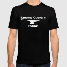 Brown County Forge Simple Logo MEDIUM Mens Fitted Tee Black