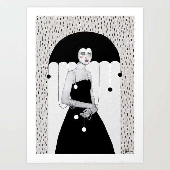 Rainy Minta Art Print