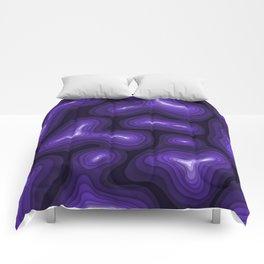 Purple Topography Comforters