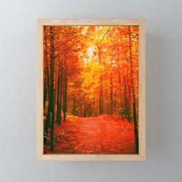 Red and Orange Autumn II Framed Mini Art Print
