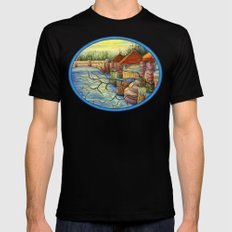 Pulling You In - Colored Pencil Drawing MEDIUM Black Mens Fitted Tee