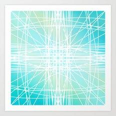 Linear Oceanblast Art Print
