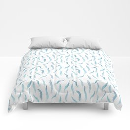 Blue feathers Comforters