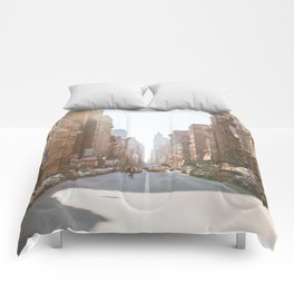 New York City Streets Comforters