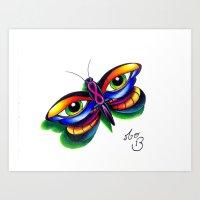 Butterfleyes Art Print