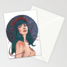 She Wore Ribbons of the Cosmos Stationery Cards