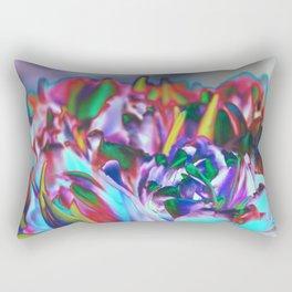 Colored Tulips Rectangular Pillow