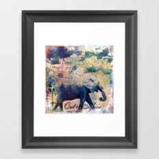 Elephants Journey Framed Art Print