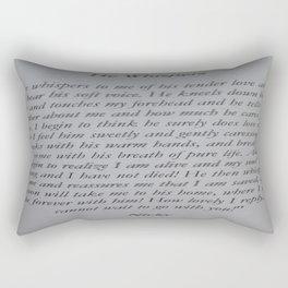 The Beauty of Prayer Rectangular Pillow