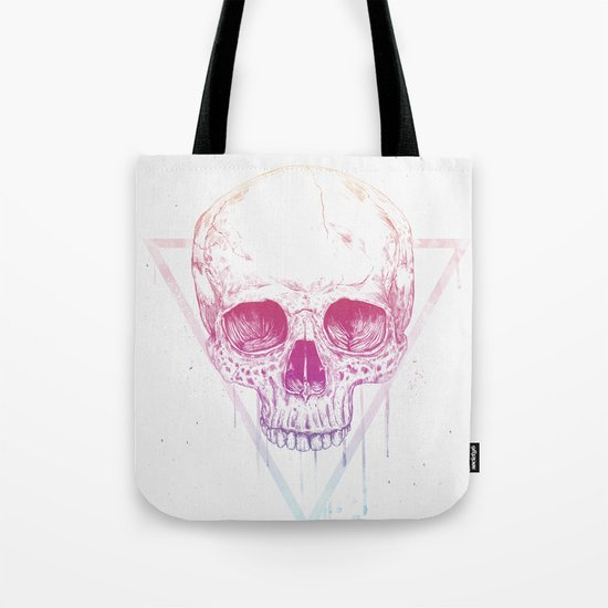 Skull in triangle Tote Bag