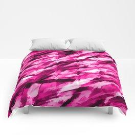 Hot Pink on Pink Designer Camouflage pattern Comforters