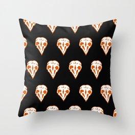 orange skullz Throw Pillow