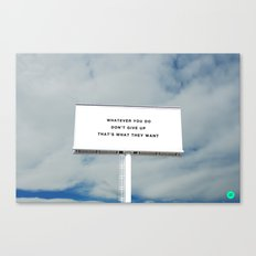WHATEVER YOU DO Canvas Print