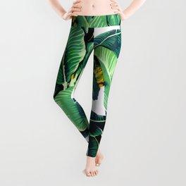Tropical Banana leaves pattern Leggings