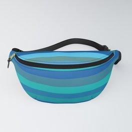 Blue Mod Stripes Fanny Pack