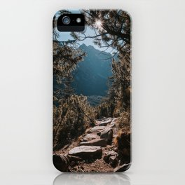 On the trail - Landscape and Nature Photography iPhone Case