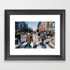 Street factory Framed Art Print