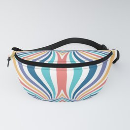 Marbled Rainbow // Abstract Psychedelic Flame Pattern Fanny Pack