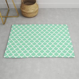 Scales (White & Mint Pattern) Rug