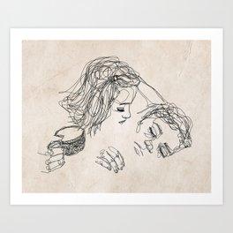 Good morning, I love you. Art Print