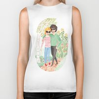 grantaire Biker Tanks featuring Walk in the Park by foxflowers