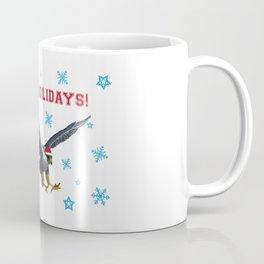 Happy Holidays Falcon Coffee Mug
