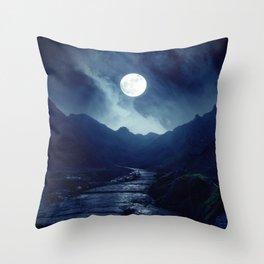Walk to the Moon Throw Pillow