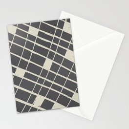 Grid in Black Stationery Cards