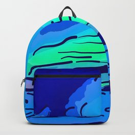 abstract style aurora borealis absstd Backpack
