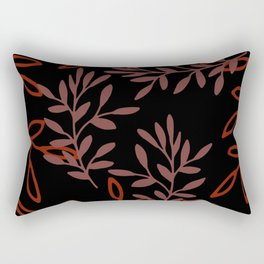 Leafy Red Rectangular Pillow