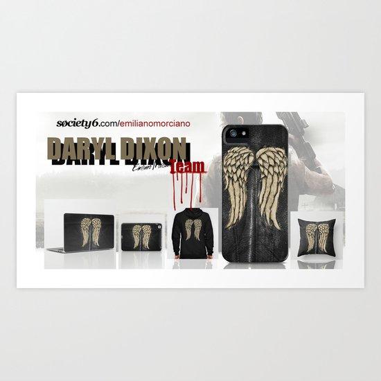 Daryl Dixon Team. ‹(-- Art Print