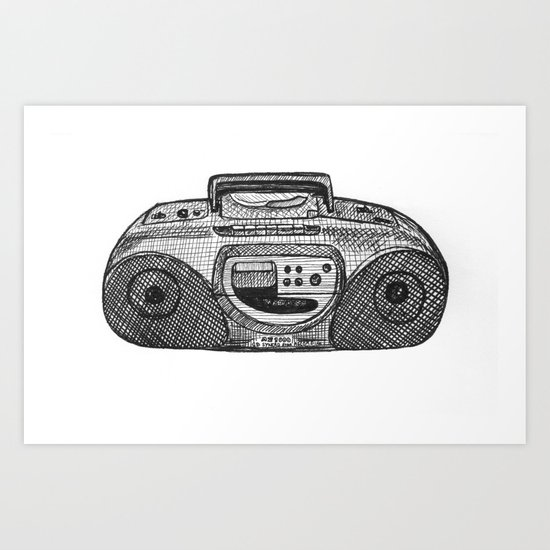 Radio Art Print