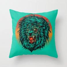 Zombie Lion Throw Pillow