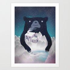 I ♥ Winter Art Print