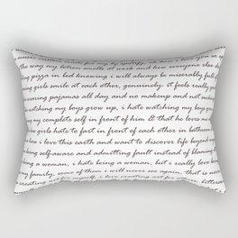Hummus, Tats & Farts....A Real Poem by a Real Girl Rectangular Pillow