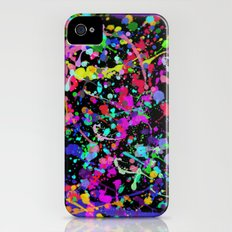 Paint Splatter 1 - Black iPhone (4, 4s) Slim Case