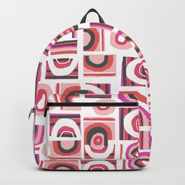 Modern Bauhaus Freehand Abstract Pattern Backpack