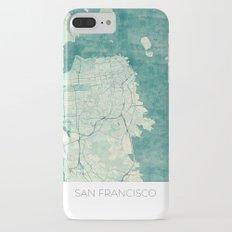 San Francisco Map Blue Vintage  Slim Case iPhone 7 Plus